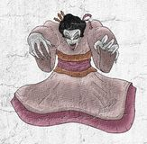 Horror gejsza royalty ilustracja