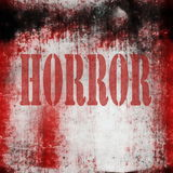 Horror on grunge bloody background Stock Photos