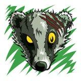 Horror Halloween del tejón del zombi ilustración del vector