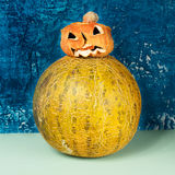 Horror at Halloween. Jack-o-lantern Royalty Free Stock Photography