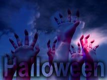 Horror halloweenowe Ręki Obraz Stock