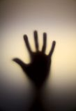 Horror hand. In soft light Stock Images