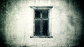 Horror Haunted Footage. Female ghost behind the old window. stock footage