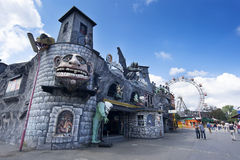 Horror House In Amusement Park Stock Photo