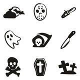 Horror Icons Freehand Fill Royalty Free Stock Photos