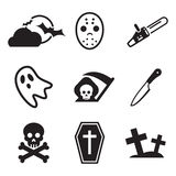 Horror Icons Royalty Free Stock Image