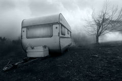 Horror image of haunted camper van Stock Image