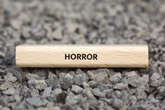HORROR - image with words associated with the topic MOVIE, word, image, illustration Stock Photography