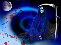 Horror incoming. The death arrive under the moon Royalty Free Stock Photos
