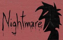 Horror karta ilustracja wektor