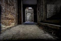 Horror-Korridore stockfotos
