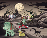 Horror landscape with characters. ìì Stock Photo