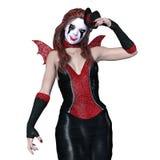Horror makeup woman. 3D CG rendering of a horror makeup woman Stock Photography
