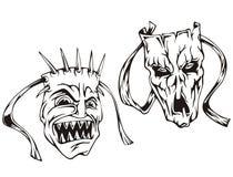 Horror maski royalty ilustracja