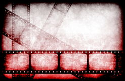 Horror Movie Feature Reel. Abstract Horror Movie Feature Reel as Background Stock Images