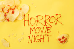 Horror movie night. Halloween concept Royalty Free Stock Images
