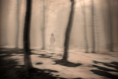 Horror movie scene. A scene from a horror movie royalty free stock images