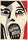 Horror movies poster design Stock Image