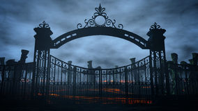 Horror night cemetery, grave. Moonlight . halloween concept. 3d rendering. Horror night cemetery, grave. Moonlight . halloween concept 3d rendering Stock Photography