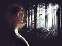 Horror nightmare. 3D Rendering Stock Images