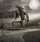 Horror od morza ilustracji