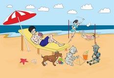 Horror plaża royalty ilustracja