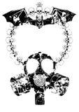 Horror rama z maską gazową ilustracja wektor