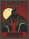 Horror retro poster Royalty Free Stock Photo