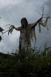 Horror scarecrow. A frightening scarecrow towers over a Devon road during a festival and it wasn't even halloween Stock Images
