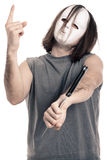 Horror scary masked man Stock Photo
