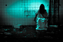 Horror or Scary Scene. Horror scene of a scary woman Stock Photo
