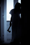 Horror Scary Woman. Horror Scene of a Scary Woman Stock Image