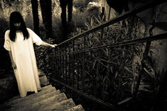 Horror scary woman royalty free stock photos