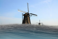 Horror scenario. Big parts of Netherlands  will be flooded when climate changing will not be stopped Stock Images