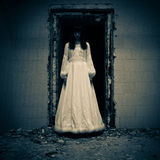 Horror Scene of a Bride Royalty Free Stock Image