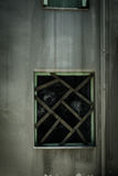 Horror scene of the old grunge building. Background Stock Photos