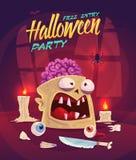 Horror set. Halloween poster background card vector illustration