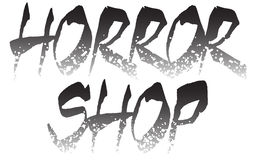 Horror shop logo template stock photos