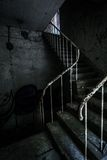 Horror staircase and hidden creepy hand Royalty Free Stock Image