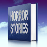 Horror stories. Illustration depicting a book with a horror stories concept title. Sky background Stock Images