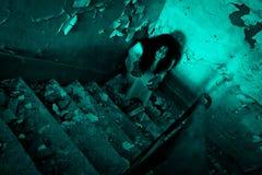 Horror straszna kobieta Zdjęcie Royalty Free