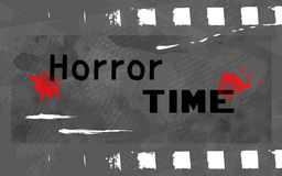 Horror time. Time to watch horror (scary) movies Royalty Free Stock Photo