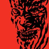 Horror twarz potwór również zwrócić corel ilustracji wektora royalty ilustracja