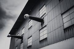 Horror władzy eksperymentalny laboratorium, elektryczność woltażu lab wysoka fabryka zdjęcie royalty free