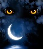 Horror w nocy ilustracji
