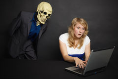Horror of what he saw on Internet Stock Photos