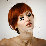 Horror woman Royalty Free Stock Image