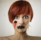 Horror woman Stock Photo