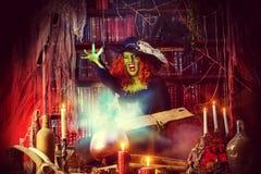 Horror woman Stock Image