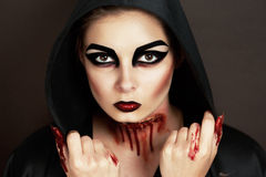 Horror woman Royalty Free Stock Photography